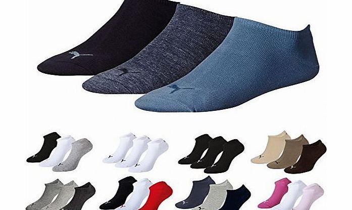 83ebafeacb3 Puma Sports Socks - Unisex Invisible Sneakers 3P -Three Pair Packs Of Plain /Mix