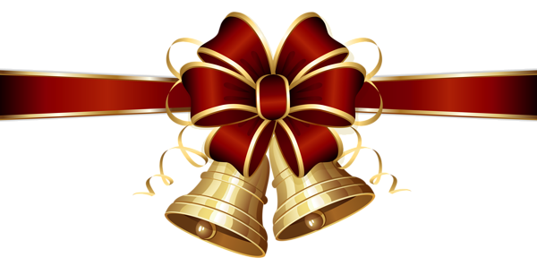 Christmas Bells And Red Bow Png Clipart Image Christmas Bells Christmas Clipart Clip Art