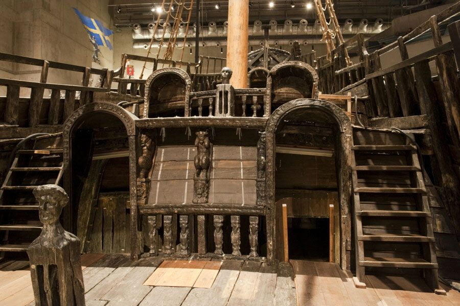 Part of the Vasa's upper deck at the stern. | Vasa ...