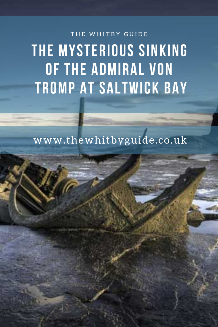 The wreck of the Von Tromp can still be seen today at low tide in