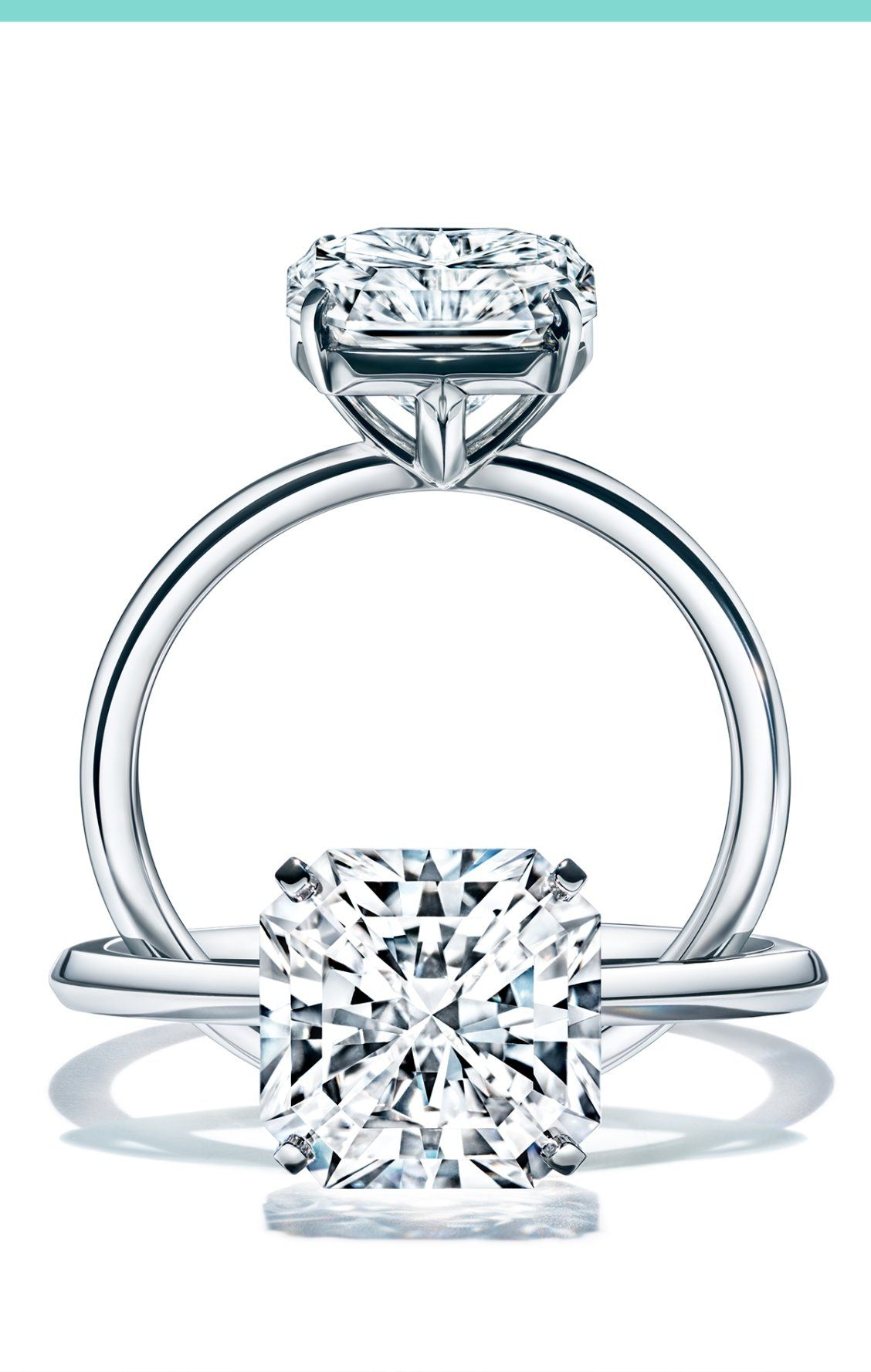 Jewelry & Watches 2.5 Ct Diamond Princess Square Ring Split Shank 18 Karat Yellow Gold Solitaire Available In Various Designs And Specifications For Your Selection