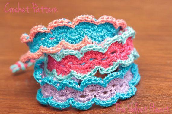Crochet Bracelet Pattern Crochet Jewelry Tutorial Boho Crochet