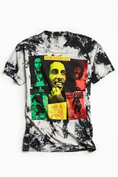 T Shirt Met Motief Zwart Bob Marley Heren H M Nl