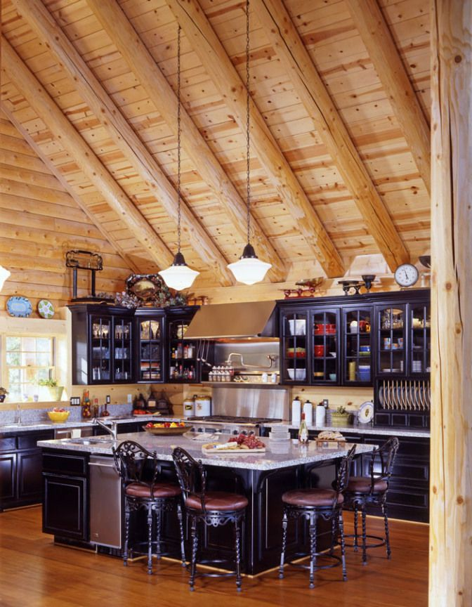 Luxury Log Home Kitchen Homes Inside Out