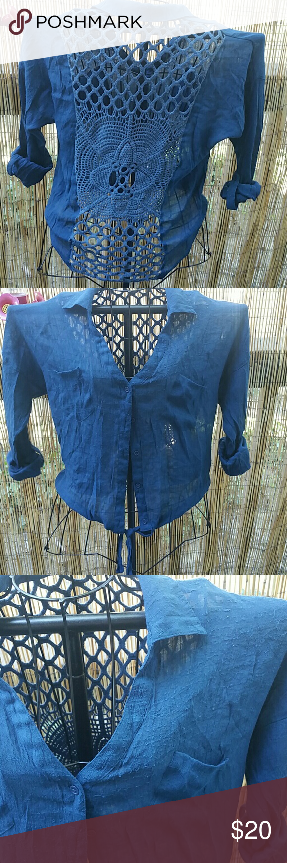 Boho hippie top Good condition, small pilling on top near shoulder Mine Tops