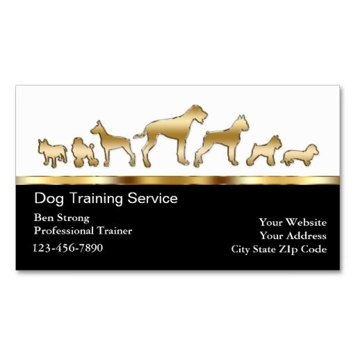 Dog Trainer Business Cards Business cards and Business - new dog training certificate template