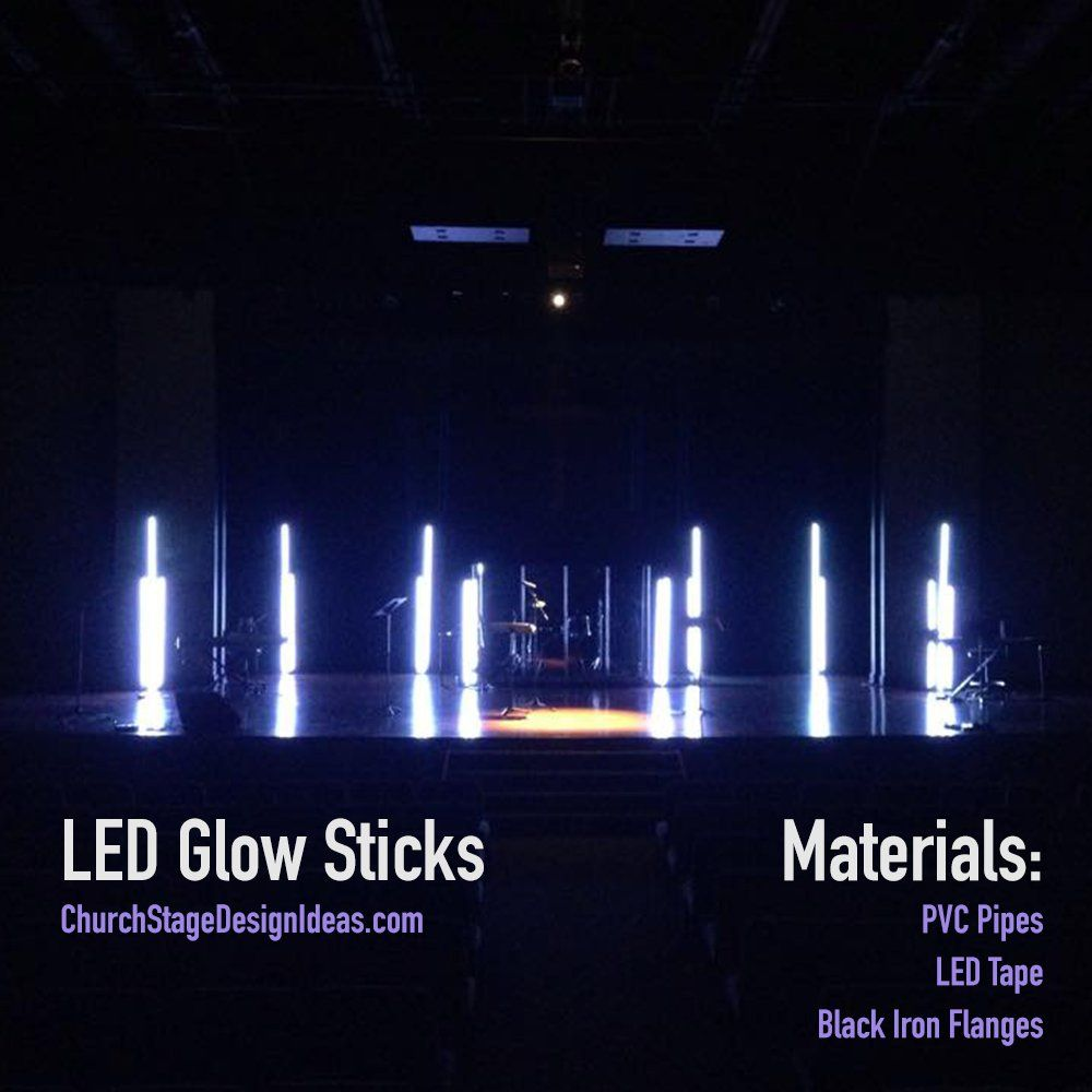 Led Glow Sticks Church Stage Design