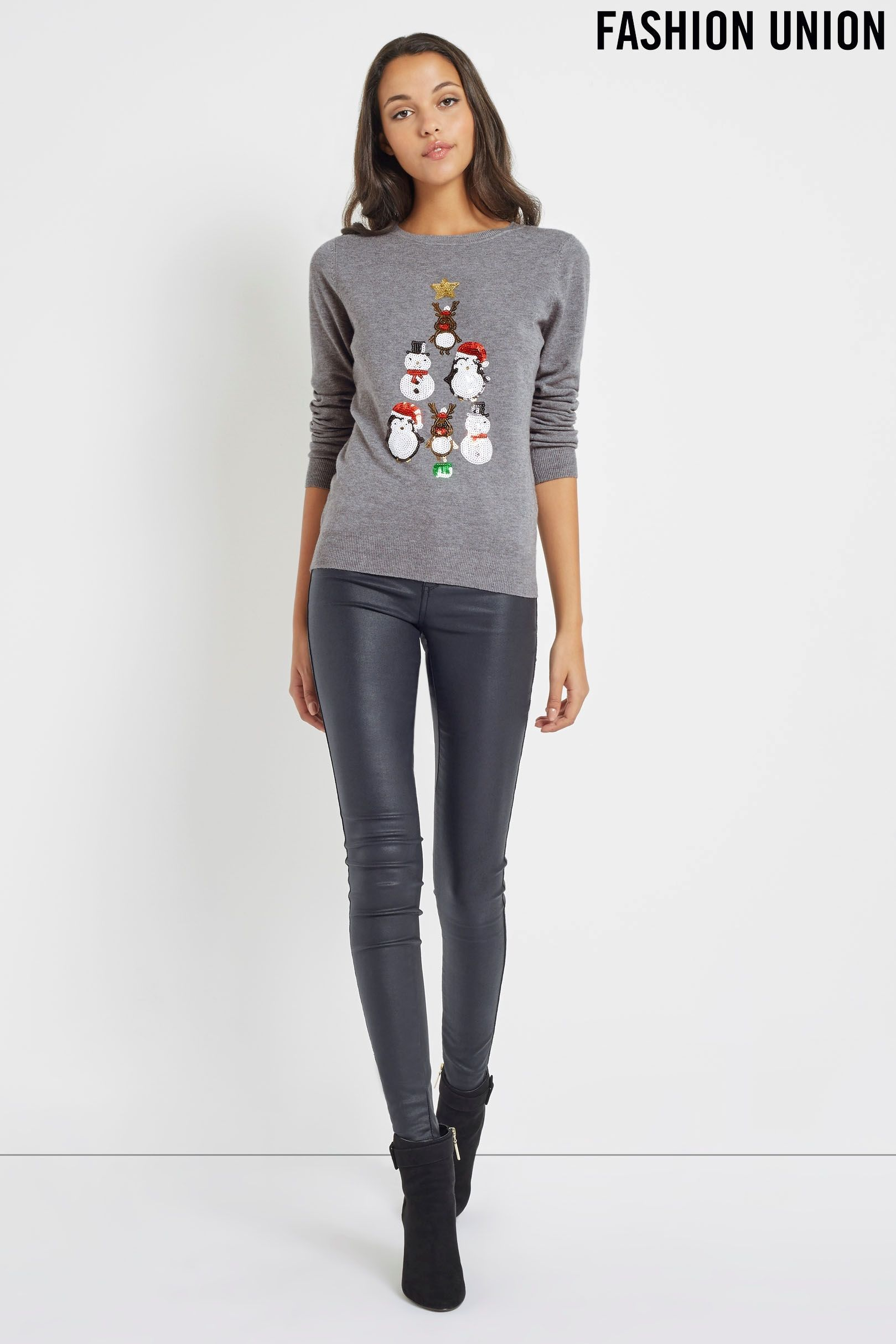 Buy Fashion Union Novelty Christmas Jumper from the Next