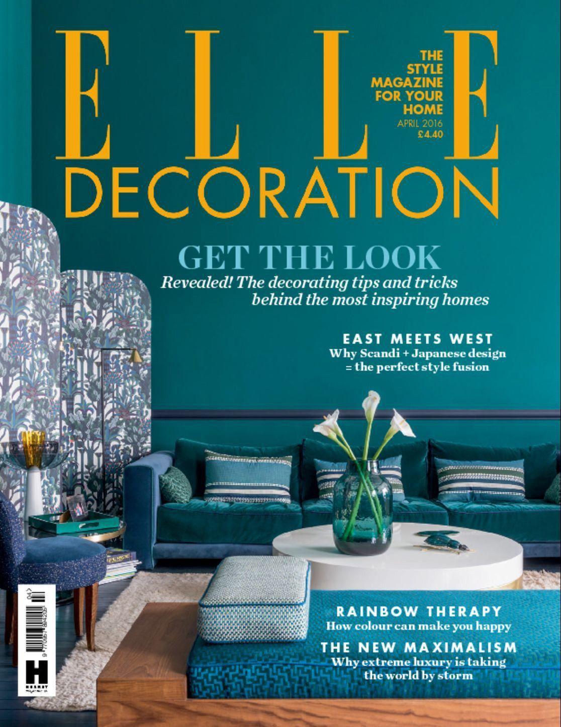 Elle Decoration Uk Magazine Single Issue Magazine Deco