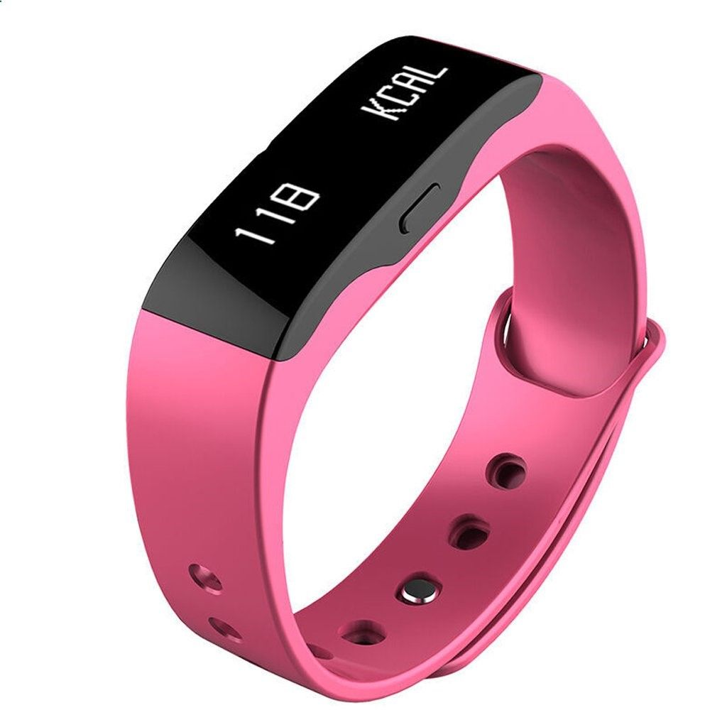 Wristbands Fitness Bluetooth Watch Sleep Monitor Smart Yellow Color Pink Track Daily Activities To Your Steps Distance