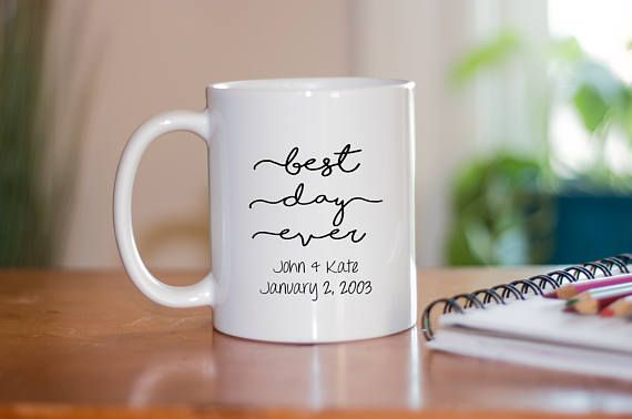 Best Day Ever Coffee Mug Wedding Mugs Wedding Favors Bridal