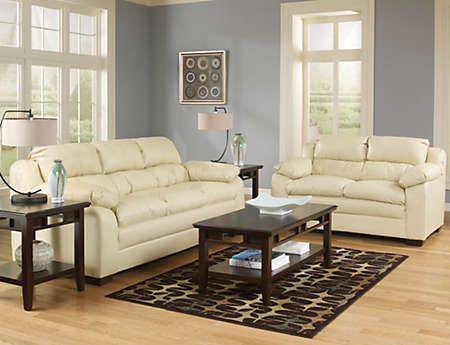 Best Maddox Sofa Loveseat Set Nat Art Van Furniture 640 x 480