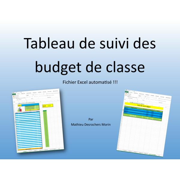 Tableau De Suivi Des Budget De Classe Excel Index