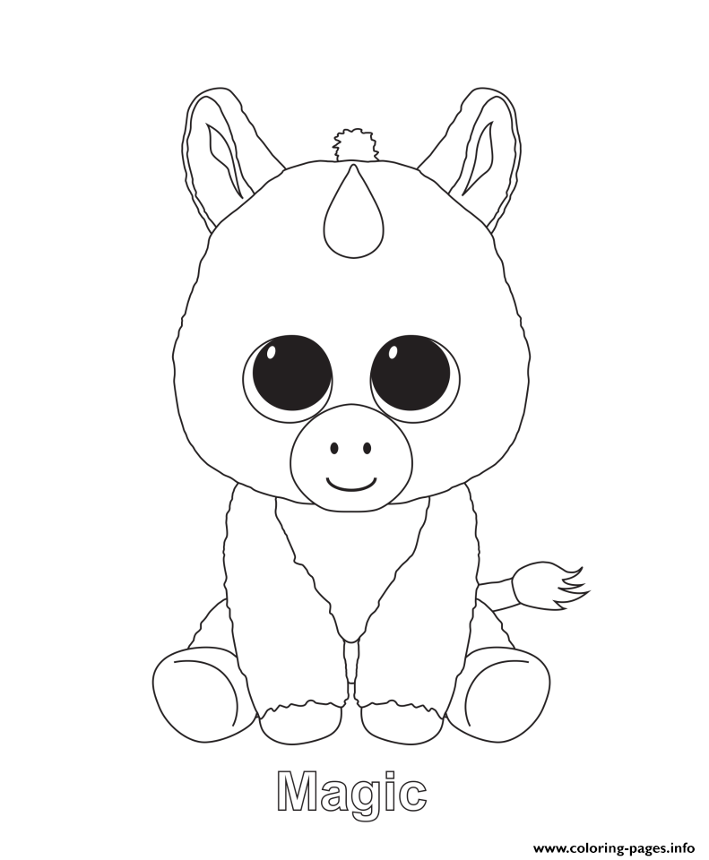 Coloring Rocks Baby Unicorn Pictures Of Beanie Boos Unicorn Coloring Pages