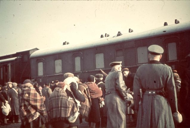 Lodz, Poland, Deportation of Jews to Chelmno, April 1942.