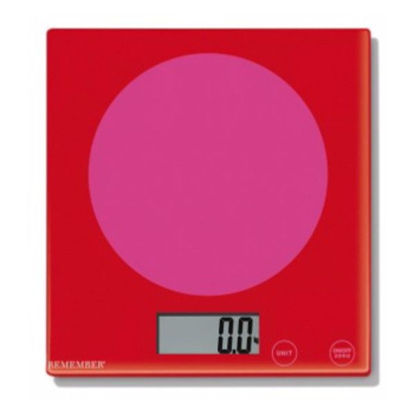 Pink Meets Red Kitchen Scales ($43) ❤ Liked On Polyvore Featuring Home,  Kitchen