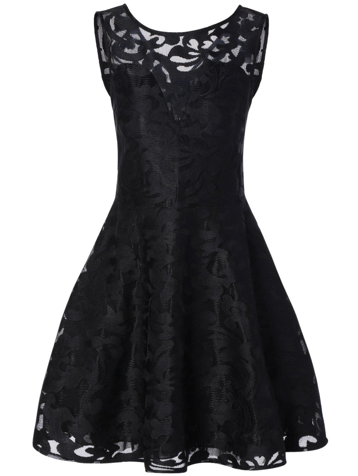 Sleeveless little lace prom dress black laces lace dress and black