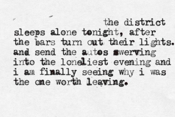 The District Sleeps Alone Tonight Postal Service