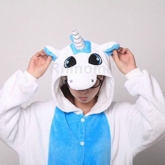 1e877866c413 Adult Onepiece Pajamas Unicorn Kigurumi Unicorn Onepiece Pajamas for ...