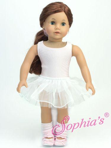 "New Sophia/'s 18/"" American Girl Doll Cream White Leotards Tights"