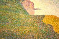 Nature Art in the style of George Seurat.