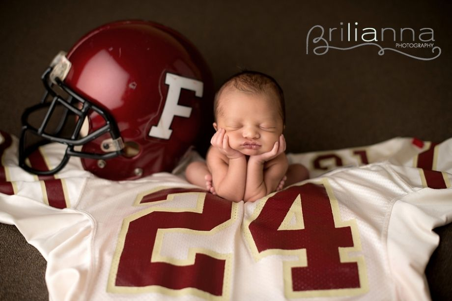 Baby photography football helmet and jersey