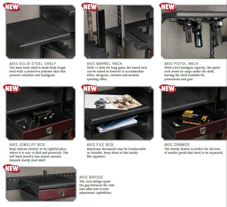 AXIS Adjustable Shelving: Another Reason To Buy a Browning ProSteel Gun Safe . - AXIS Adjustable Shelving: Another Reason To Buy A Browning