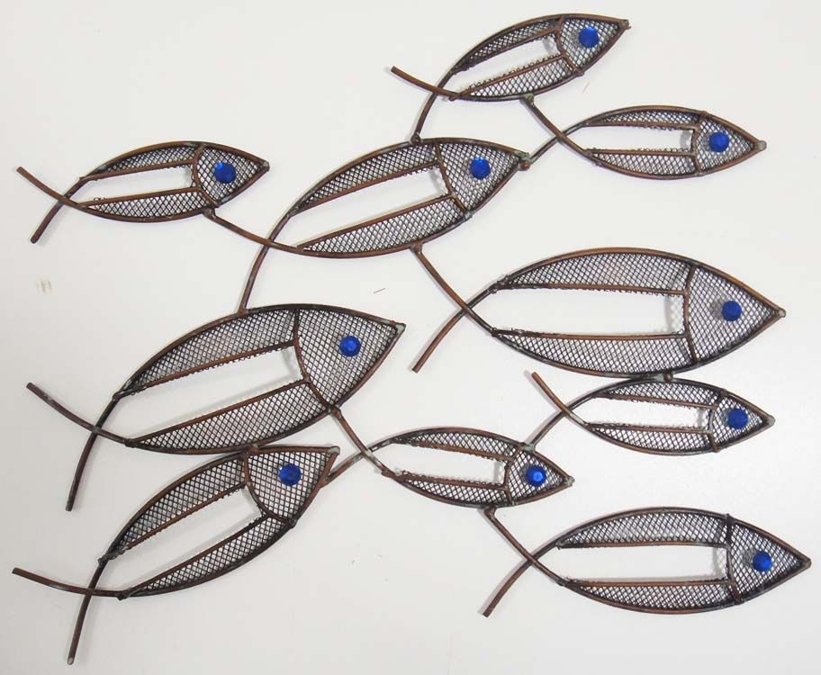 Fish Metal Wall Art fish wall art contemporary metal wall art fish shoal on popscreen