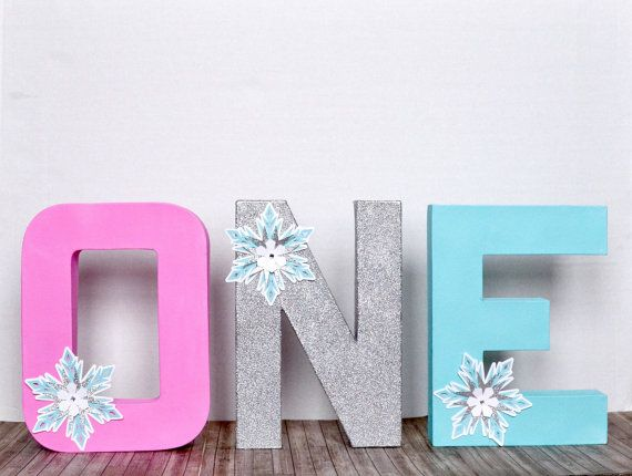 Glitter Monogram Letters ONE 3D Block by PartyBashCreations | mason ...