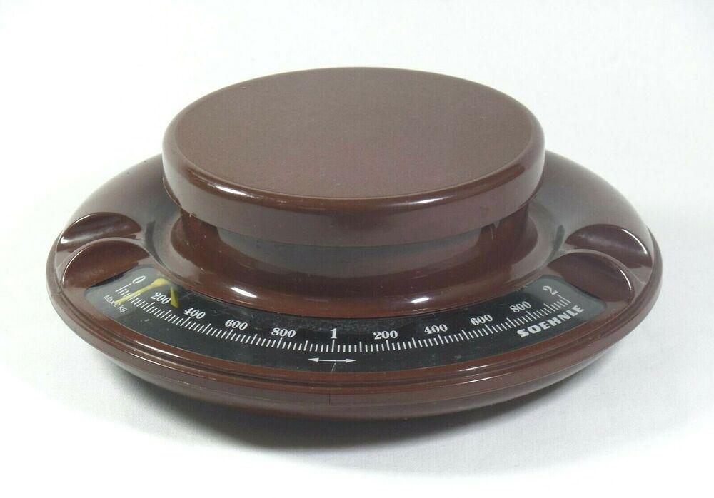 Vintage Braun Soehnle Kuchewaage 2kg Aus 1970s Retro Farbe Und