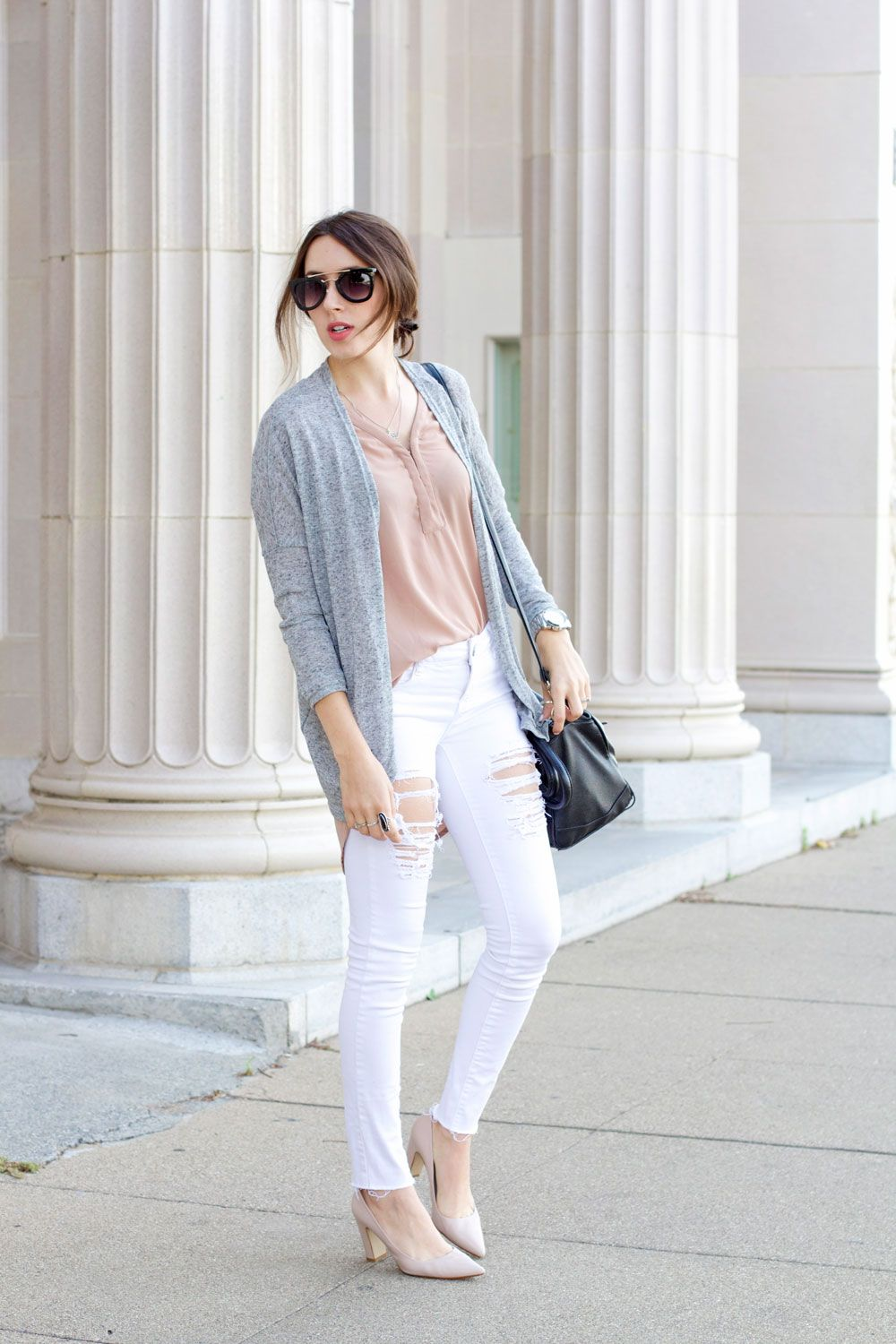 WHITE JEANS (Elements of Ellis) | Grey cardigan, Jean grey and ...