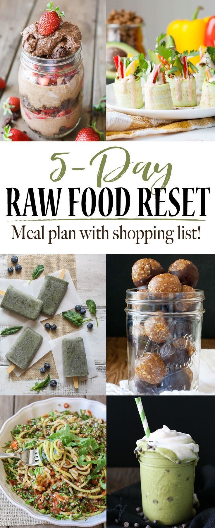 5 day raw food reset with shopping list recipe vegan raw 5 day raw food reset forumfinder Image collections