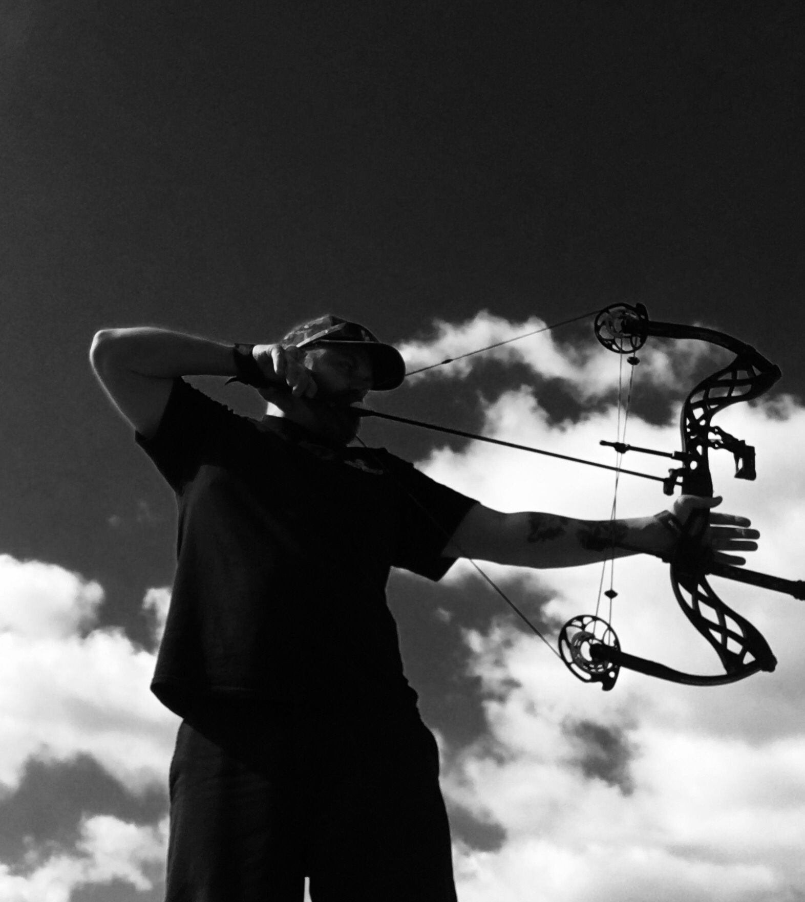 Me shooting my carbon icon by bowtech.  I love this bow.