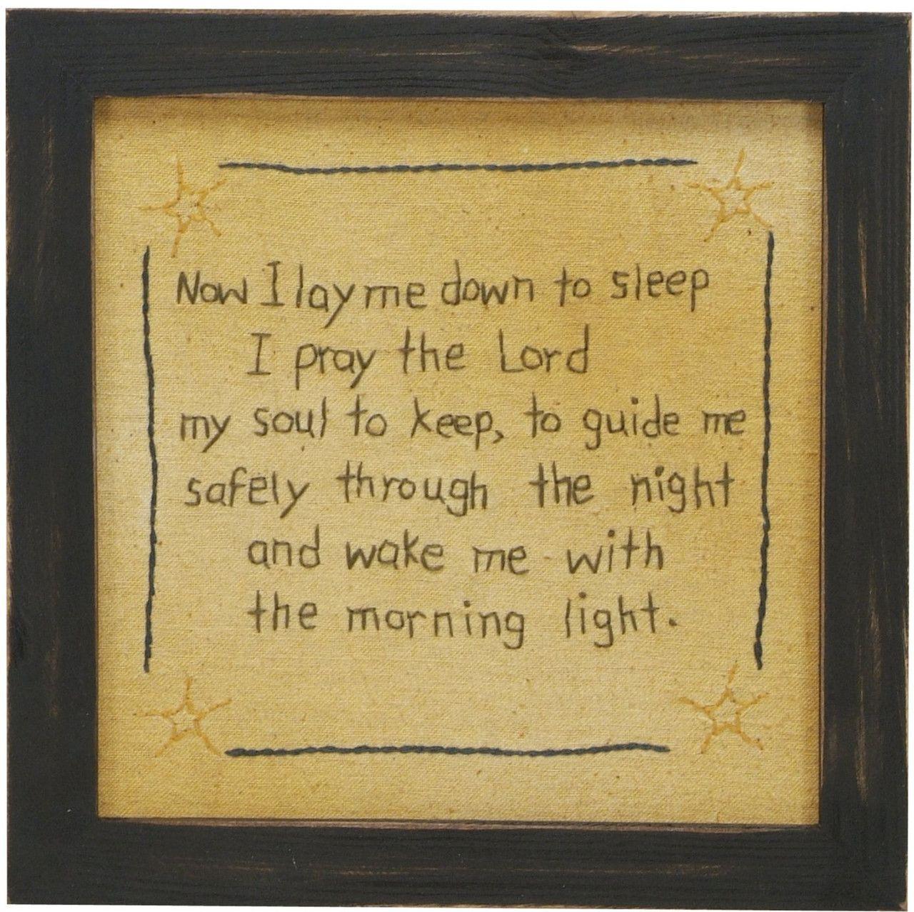 2lisasboutique - Now I Lay Me Down To Sleep - Framed Stitchery ...