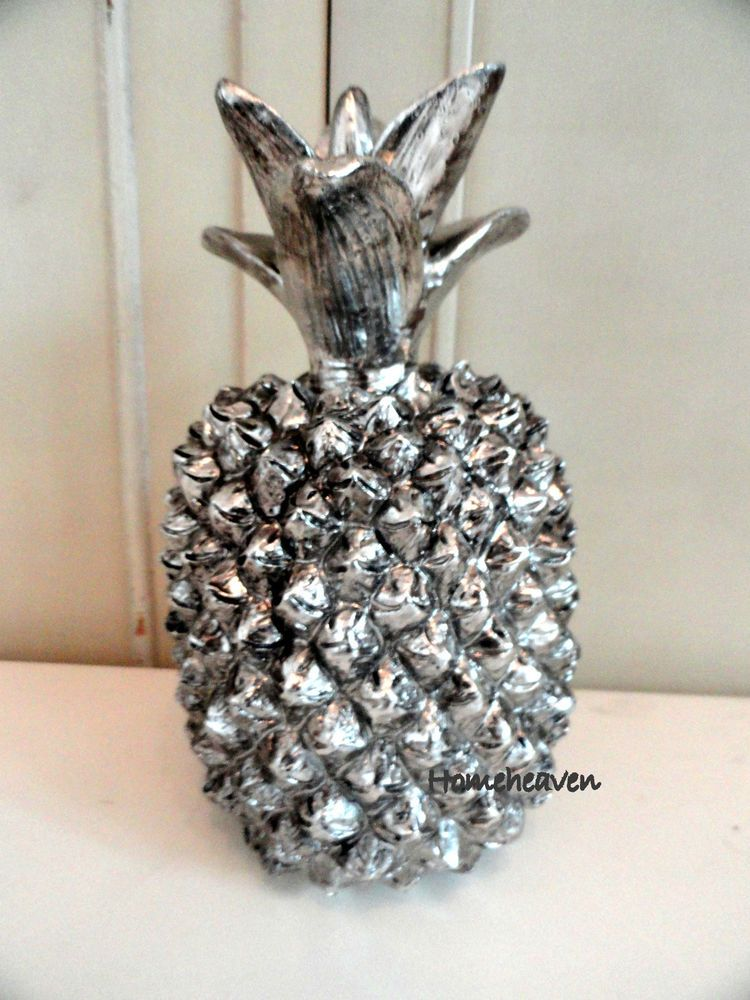 Pineapple Ornament Silver colour Art Deco Home Decoration Gift  #homeheaven