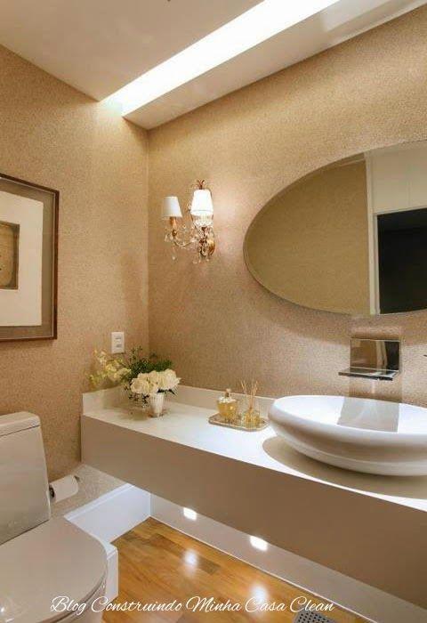 55 Lavabos de Luxo!!! Pequenos e Sofisticados!  Office bathroom, Bath and To -> Banheiro Pequeno Lavabo