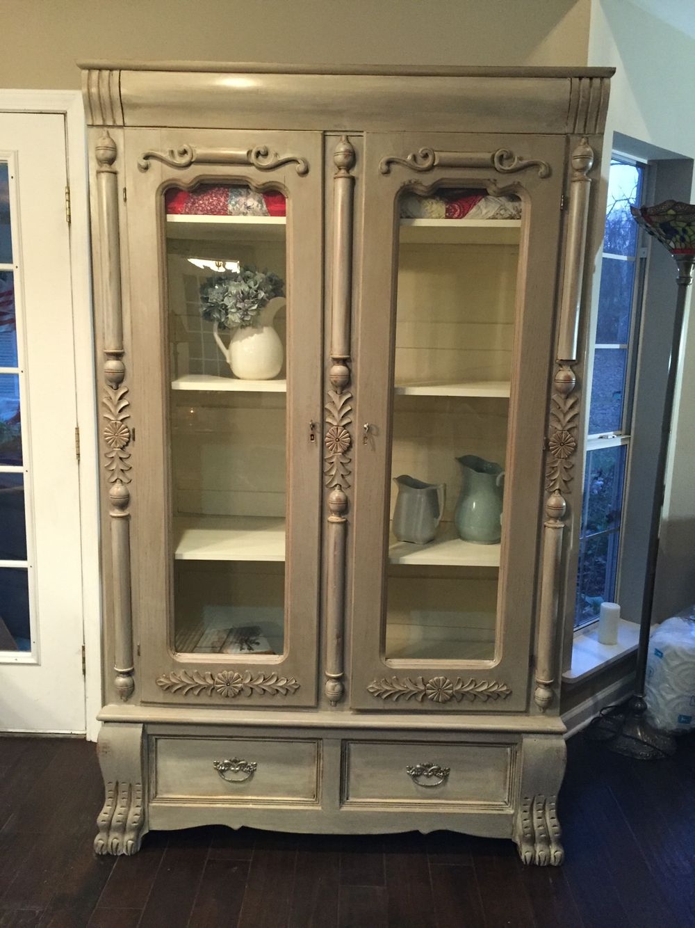 1910 Wardrobe turned into display cabinet. Painted Annie ...