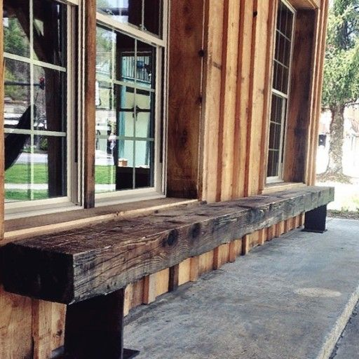 Pin By Timber Revival On Our New Recycled And Reclaimed: DIY Reclaimed I-Beam Benches