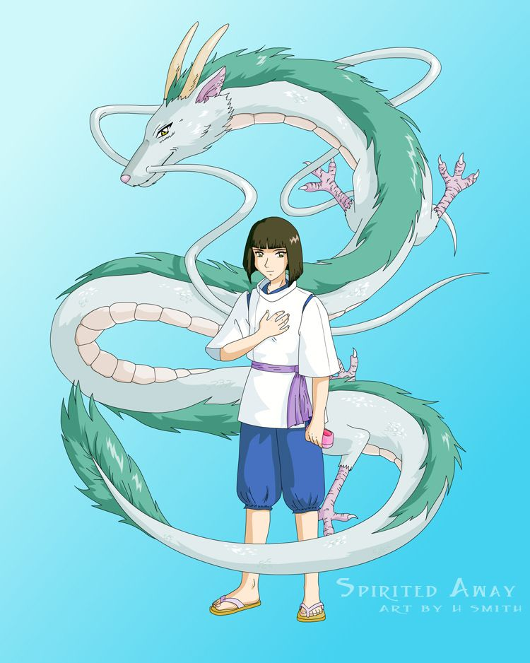 Spiritedawayhaku Deviantart Studio Ghibli Art Spirited Away Haku Ghibli Art