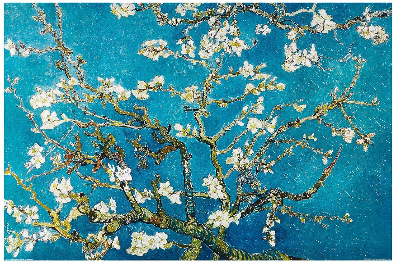 1art1 48105 Poster Vincent Van Gogh Branches d\u0027Amandier en Fleurs  Saint,Rémy 1890 91 X 61 cm Amazon.fr Cuisine \u0026 Maison