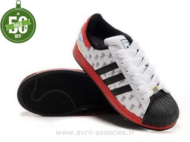 chaussure adidas superstar femme rouge