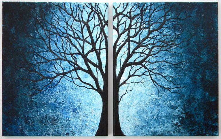 25 easy painting ideas for beginners on canvas for super fun DIY home decoration images