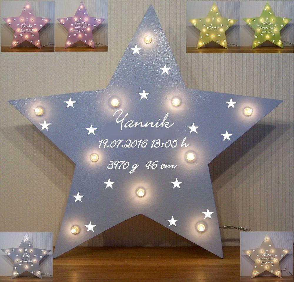 Nachtlicht kl. Sterne Lampe Geschenk Baby Geburt Taufe