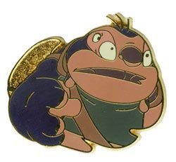 Walt Disney World (WDW) Cast Lanyard Series - Lilo & Stitch (Jumba). It depicts Jumba in front what looks like a gold leaf.