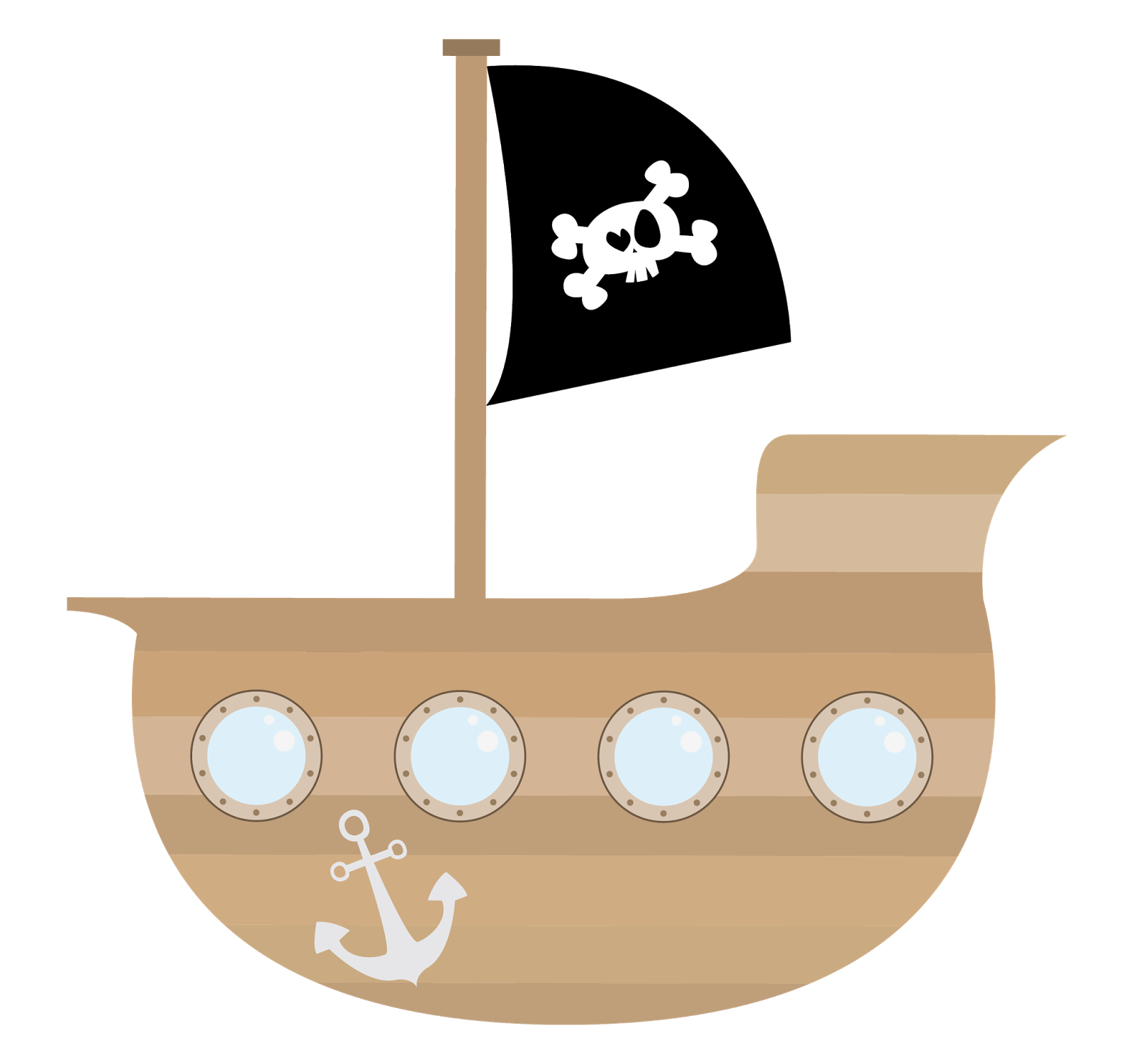 Pirate Ship Clipart Clipart Kid Cartoon Pirate Ship Pirate Ship Pirate Theme