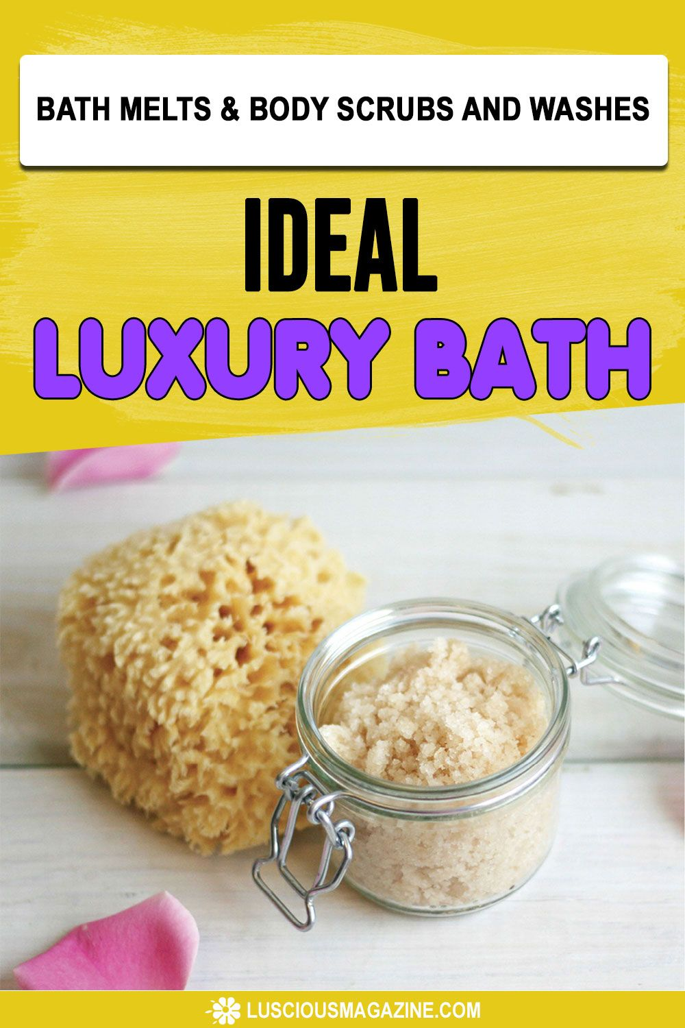 Covet your bath time as an opportunity to celebrate yourself as a fanciful creature of mood, whim, and decadence! This luxurious bath salt blend is rich in sea minerals, Epsom salts, skin-softening sweet almond oil, and skinconditioning oats... #homeremedies #homemadeproducts #homemade #herbs #flowers #garden #backyard #health #herbal #infusedoils #skincare #beauty #homeskincare #homebeauty #homeLuxuryBath #bathmelts #bodyscrubs #bodywashes #homebathmelts #homebodyscrubs #homebodywashes