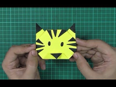 How To Make An Origami Paper Tiger Origami Paper Folding Craft