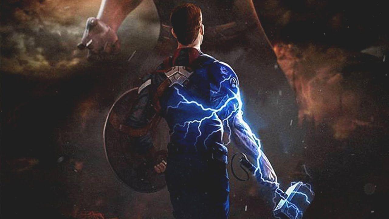 Captain America Mjolnir Endgame Wallpaper