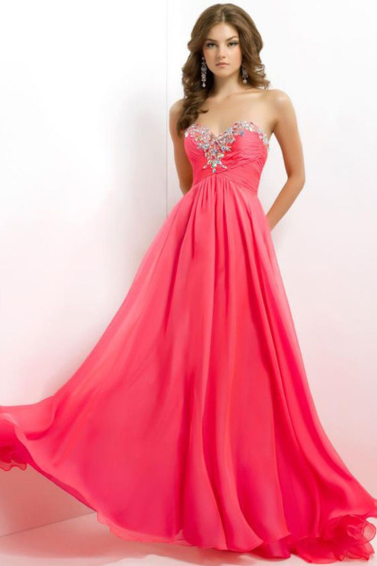 clearance prom dresses a line sweetheart water melon cheap