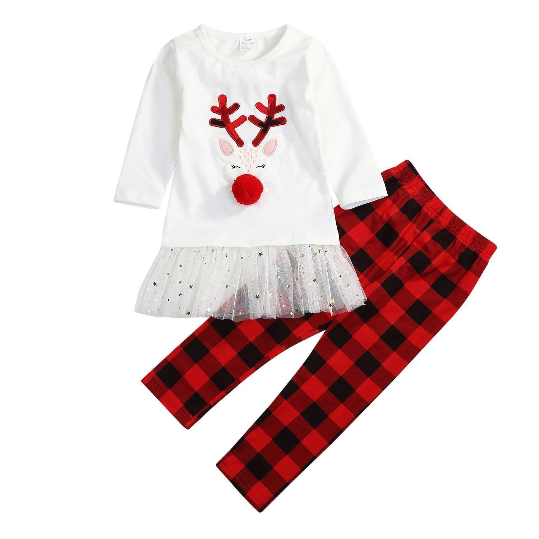 44c70230d844a Little Girls Christmas Outfits Long Sleeve #christmasoutfit #xmasoutfit  #holidayoutfit #girlfashion